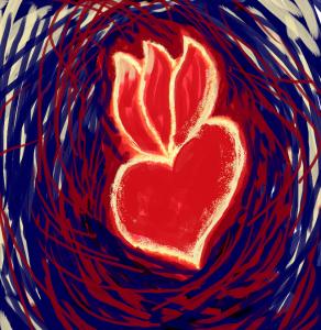 coeur pour invitation